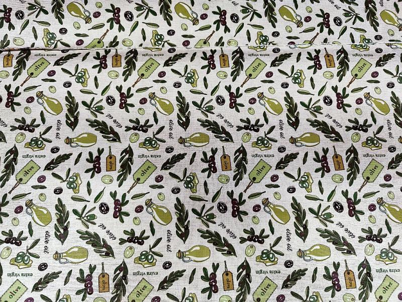 Lakástextil kék-zöld karikák 140 cm széles