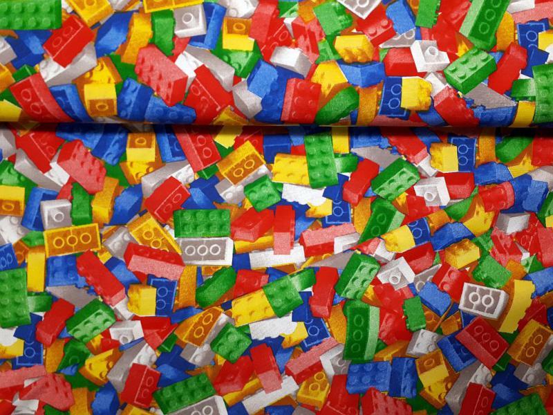 Lakástextil LEGO minták 140 cm széles