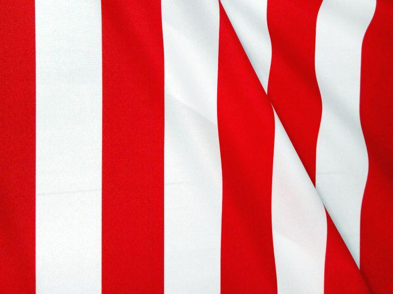 Napernyővászon piros-fehér csíkos 160 cm széles