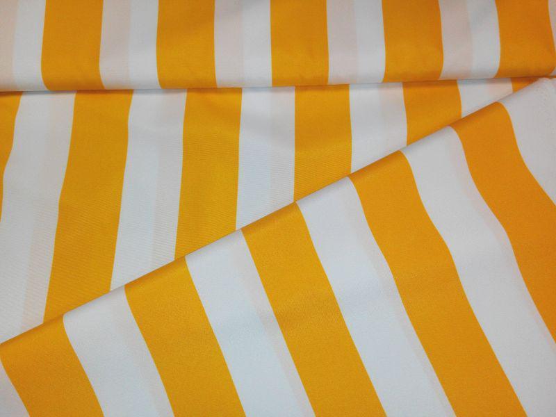 Napernyővászon sárga-fehér csíkos 160 cm széles