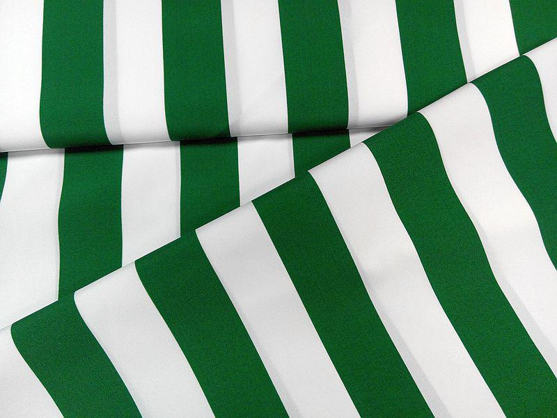 Napernyővászon zöld-fehér csíkos 160 cm széles