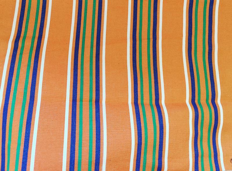 Nyugágyvászon kék csíkos 45 cm széles