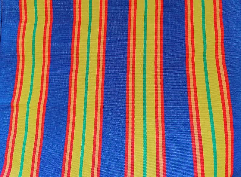 Nyugágyvászon piros alapon kék csíkos 45 cm széles