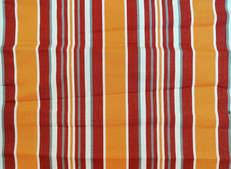 Nyugágyvászon piros-fehér csíkos 45 cm széles