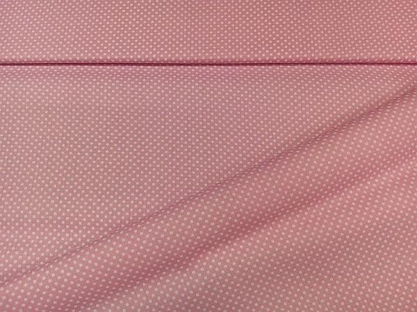 Pamut vászon aprópöttyös rózsaszín 140 cm széles