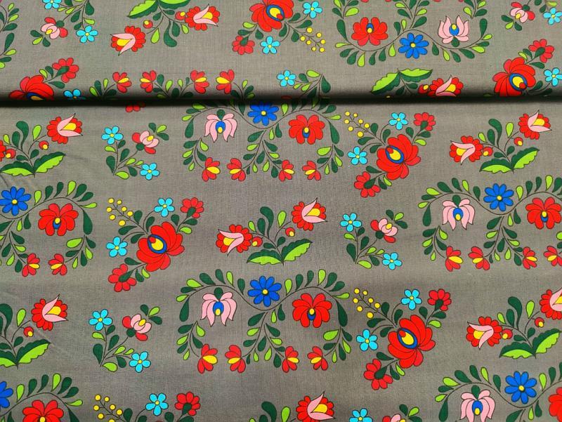 Pamut vászon kicsi rózsák 140 cm széles