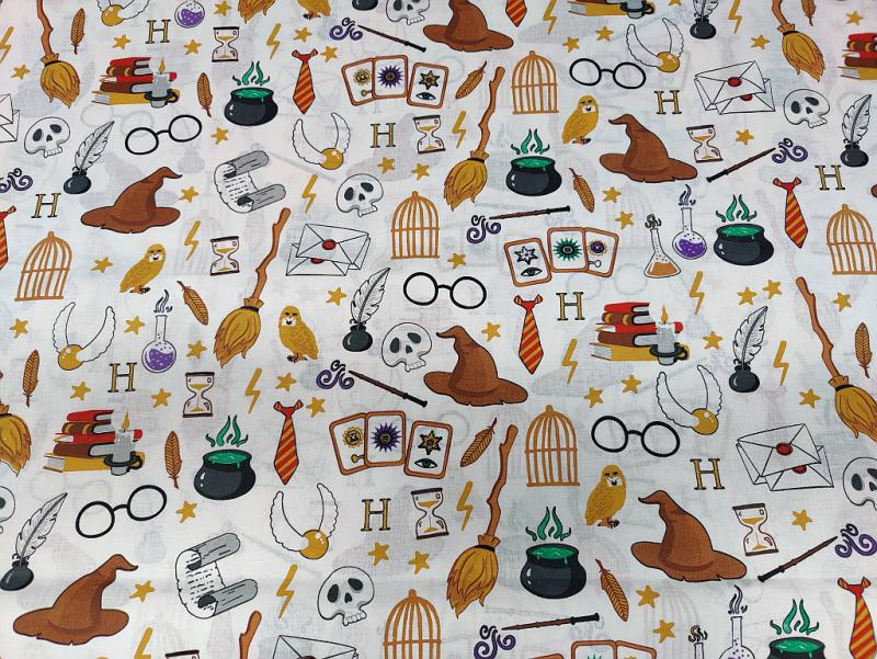 Pamut vászon piros fekete autók motorok 140 cm széles