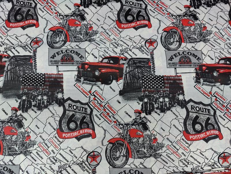 Pamut vászon színes háromszögek 140 cm széles