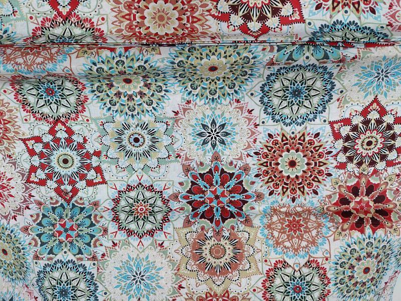 Pamutvászon lila kisvirágok 140 cm széles