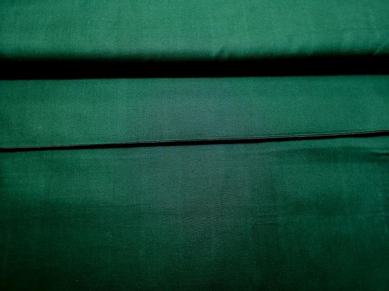Pamutvászon sötétzöld 150 cm széles