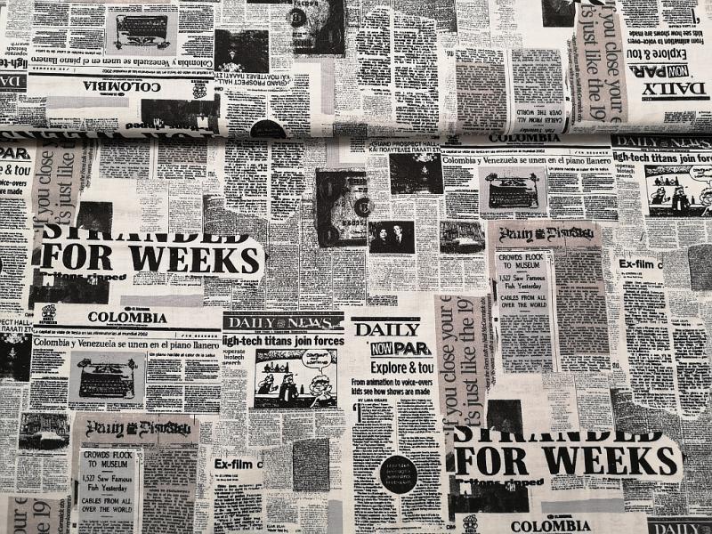 Pamutvászon újságcikkek 140 cm széles
