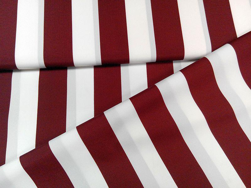 Vízlepergetős napernyő vászon UV álló bordó-fehér csíkos 160 cm széles