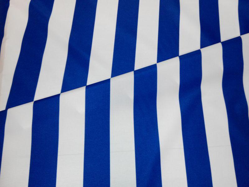 Vízlepergetős napernyő vászon UV álló kék-fehér csíkos 160 cm széles
