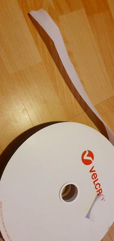 Fehér Bolyhos Velcro tépőzár 5cm