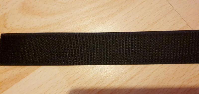 Fekete Horgos Velcro tépőzár 3cm