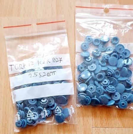 Kam patent 25 szett/csomag B27 Türkiz Kék