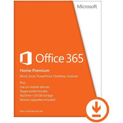 Microsoft® Office 365 Home Premium 32-bit/x64 All Languages Subscription Online Product Key License