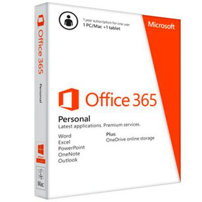 Microsoft® Office 365 Personal 32-bit/x64 All Languages Subscription Online Product Key License 1