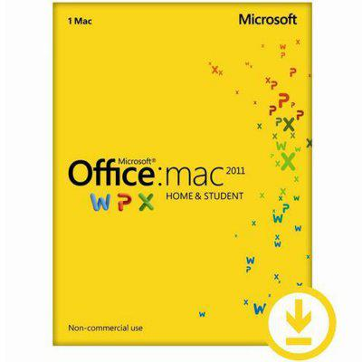 Microsoft® Office Mac Home and Student 2011 English Online Product Key License 1 License