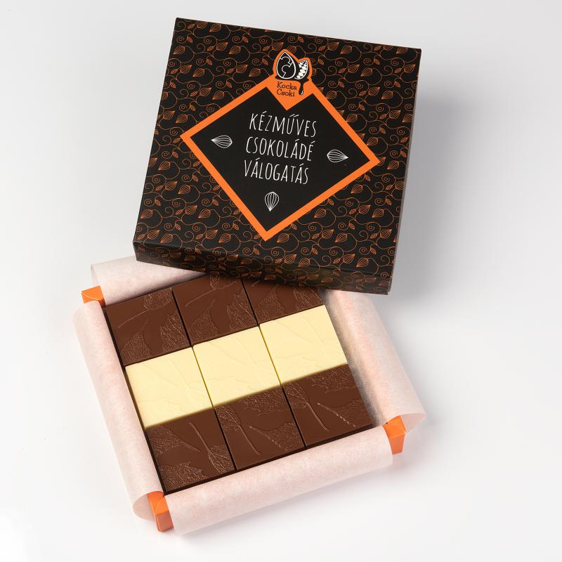 18 db-os kézműves csokoládé válogatás