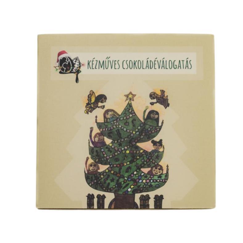 4 db-os kézműves csokoládé karácsonyi csomagolásban