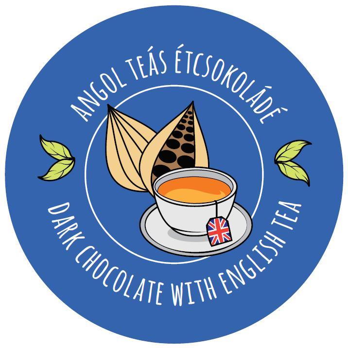 angol teás étcsokoládé kocka