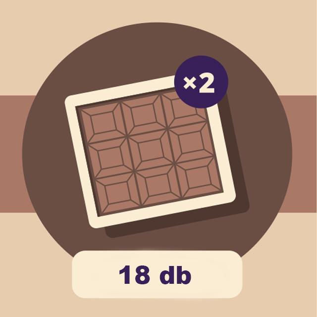 DOBOZ - 18 db-os csokoládé válogatáshoz
