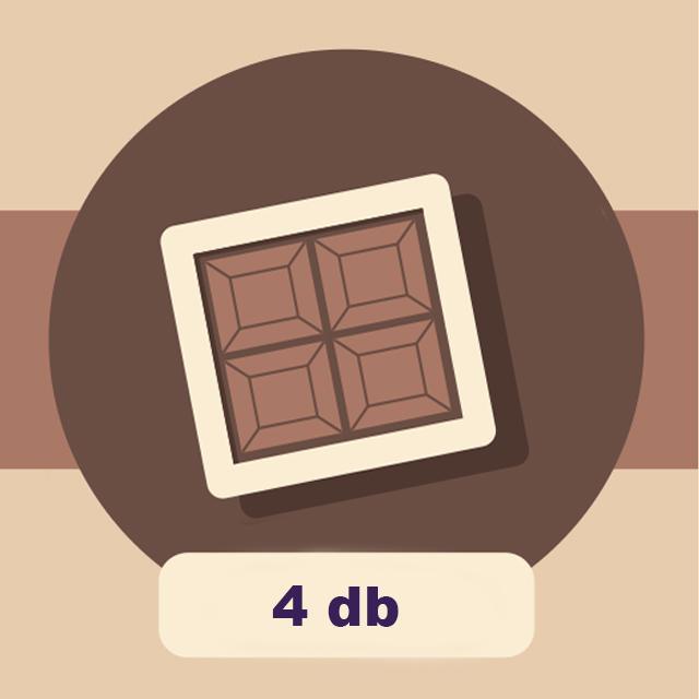 DOBOZ - 4 db-os csokoládé válogatáshoz