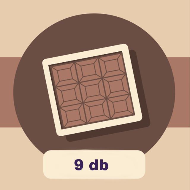 DOBOZ - 9 db-os csokoládé válogatás