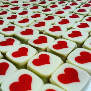 1 db-os bonbon szív mintával
