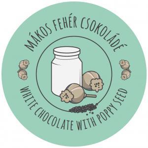 Mákos fehér csokoládé