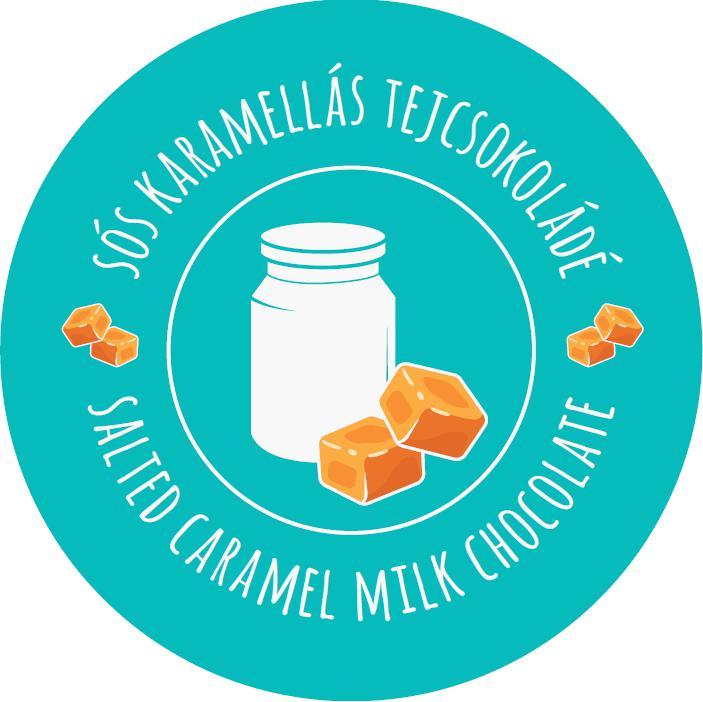 sós karamelles tejcsokoládé kocka