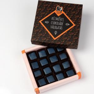 16 db-os bonbon (étcsokoládé trüffelkocka)