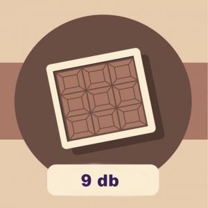 DOBOZ - 9 db-os csokoládé válogatáshoz