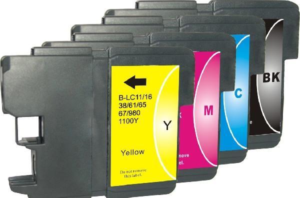 Brother LC 980/1100 fekete, kék, sárga, magenta utángyártott tintapatron csomag (4 db-os)