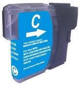 Brother LC1100/980C cyán utángyártott tintapatron  (tipp :szettben olcsóbb)
