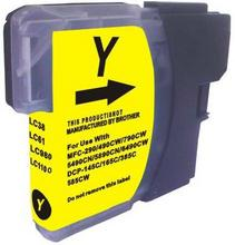 Brother LC1100/980Y sárga utángyártott tintapatron  (tipp :szettben olcsóbb)