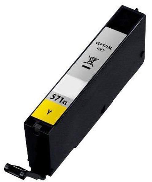 Canon CLI-571Bk XL utángyártott fekete tintapatron chipes