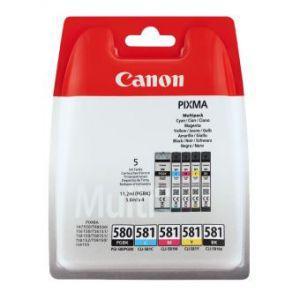 Canon PGI-580/CLI-581 Bk,C,M,Y,PB tintapatron eredeti multipack 5 db-os