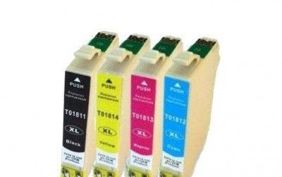 Epson T1815 BCMY utángyártott tintapatron multipack 4 szín egy dobozban (Prémium minőség)