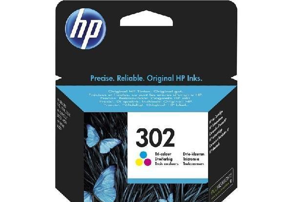 HP 302 színes eredeti tintapatron F6U65AE