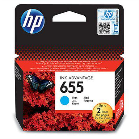 HP 655 cyán színes eredeti tintapatron CZ110AE