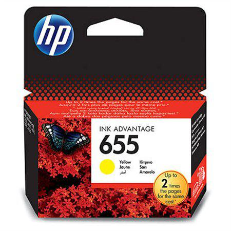 HP 655  yellow eredeti tintapatron CZ112AE