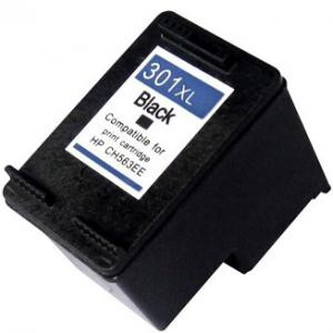 HP 301XL BK (CH563EE) utángyártott tintapatron V2 ÚJ CHIPPEL fekete
