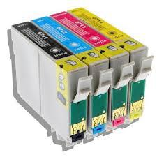 Epson-hoz T0715 PACK utángyártott tintapatron (T0711,T0712,T0713,T0714)