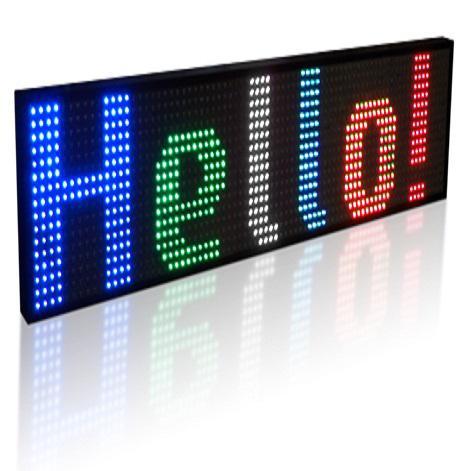 MYLED (48x416cm) KÜLTÉRI LED fényújság, magyar szoftver, USB, LAN
