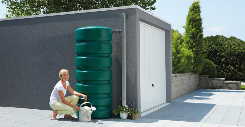 CLASSICO zöld fali esővízgyűjtő, 650 L