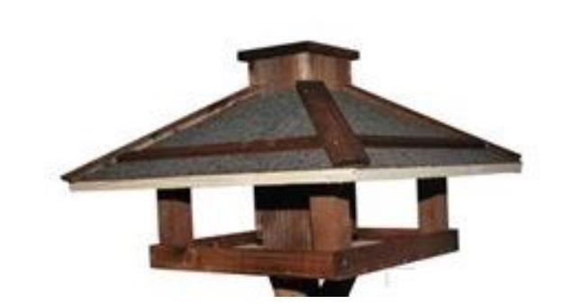 Fenyő madáretető önetetővel - 2127-1