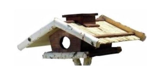 Fenyő-nyír madáretető, önetetővel - 1118