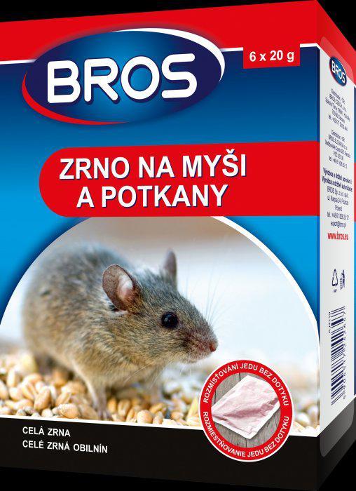 Gabonaszemes rágcsálóirtó szer 120 gr, egér és patkány ellen